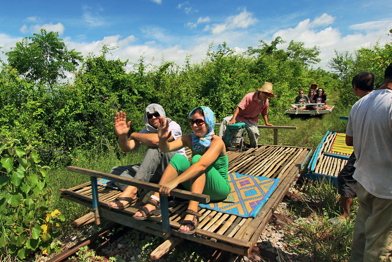 The famous Bamboo Train in Battambang!!!