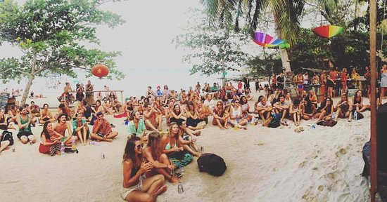 Koh Rong Police Beach Party