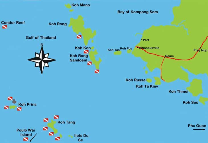 koh rong maps